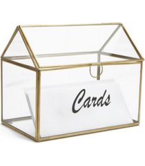 mind reader glass card holder box, wedding card clear box