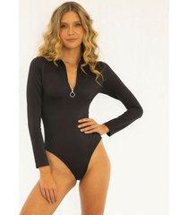 bodysuit negro para mujer blake bodysuit blake-negro-s