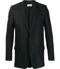 saint laurent beaded embellishment blazer - black