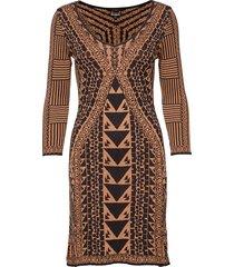 vest giulia jurk knielengte bruin desigual