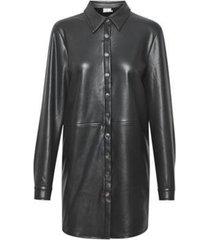 lange blouse fake leather