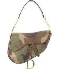 christian dior pre-owned saddle camouflage handbag - green