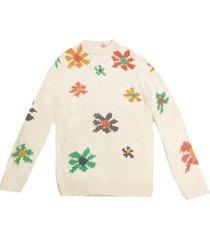 flower blast crewneck sweater