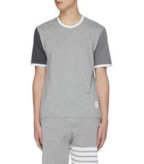 contrast sleeve crewneck cotton ringer t-shirt