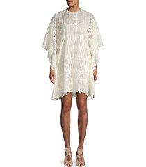 lace cotton shift dress