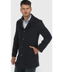 abrigo van heusen azul - calce regular