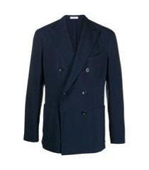 boglioli blazer leve com abotoamento duplo - 0782 navy