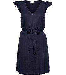 viwandera v-neck short dress/su dresses everyday dresses blå vila