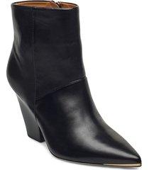 ankle bootie shoes boots ankle boots ankle boot - heel svart tory burch
