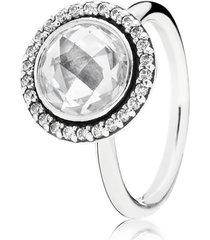 anel de prata círculo brilhante - 54