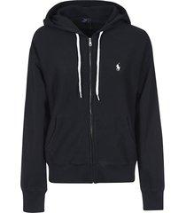 ralph lauren logo zipped hoodie