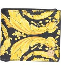 versace barocco print wallet