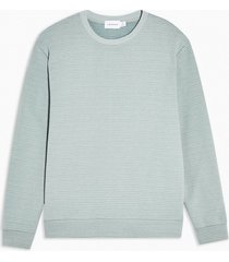 mens blue ottoman ribbed sweatshirt