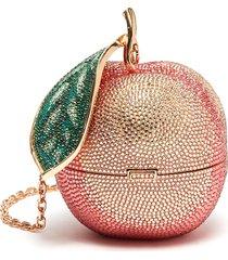 'peach' crystal clutch