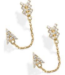 women's baublebar etta vermeil chain earrings