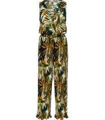plisse wrap jumpsuit