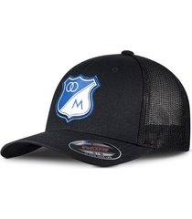 gorra oficial negra de malla millonarios  flexfit otocaps fmip-002 negro