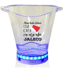 balde de gelo com led personalizado enfermagem - incolor - dafiti