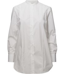 band collar long shirt overhemd met lange mouwen wit filippa k