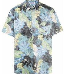 engineered garments popover bd faded-leaf shirt - black