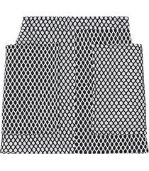 burberry pocket detail mesh and neoprene mini skirt - black