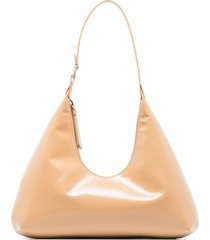 by far amber patent-leather shoulder bag - neutrals