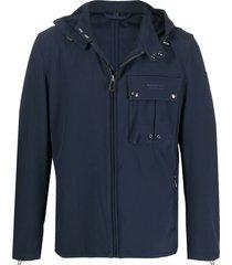 belstaff cargo-pocket hooded jacket - blue