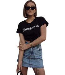 blusa in love t-shirt fantastico preta