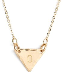 nashelle 14k-gold fill initial triangle necklace in 14k gold fill o at nordstrom
