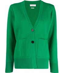 sandro paris pouch-pocket button cardigan - green
