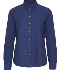 d2. winter faded flannel shirt overhemd met lange mouwen blauw gant