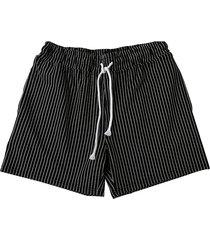 pantalones cortos de cintura baja con textura de rayas lisas para hombres