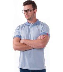 camisa polo vista mare mar del plata slim fit azul
