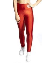 calça legging luma ventura luasal licor metalizado vermelha