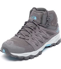 zapatilla w truckee mid  gris the north face