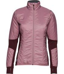wmns helix ls zip outerwear sport jackets rosa icebreaker