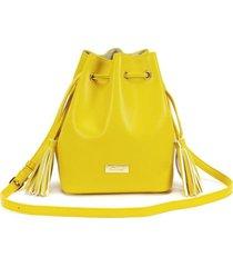 cartera  amarillo  gacel