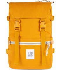 topo designs classic rover backpack - yellow