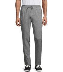 michael kors men's heathered track pants - ash melange - size s
