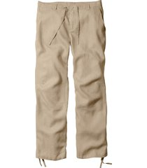 pantaloni in lino regular fit straight (beige) - bpc bonprix collection