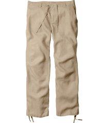 pantaloni in lino regular fit straight (beige) - bpc bonprix collection