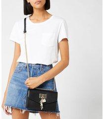 dkny women's elissa shoulder bag - black