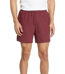 men's rhone versatility performance athletic shorts, size large - burgundy