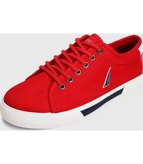 tenis lifestyle rojo-azul-blanco nautica