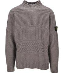 stone island mock neck sweater