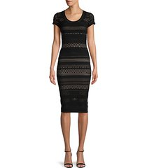 open-knit bodycon dress