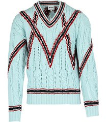 cable-knit wool sweater
