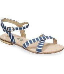 sandalias azul bata wester r mujer