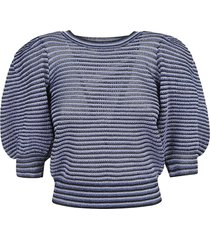 red valentino stripe knit sweater