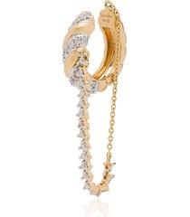yvonne léon 18kt yellow gold torsade diamond ear cuff